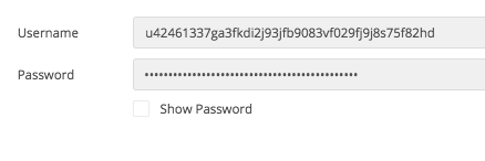 with username and password